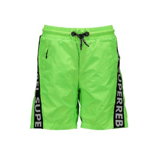 Superrebel Swim Short Text Tape - 302 Gecko Green