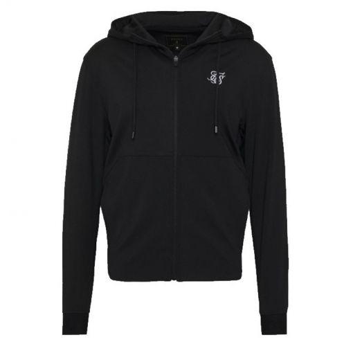 Sik Silk heren trui SS Agility Zip Through Hoodie - Zwart