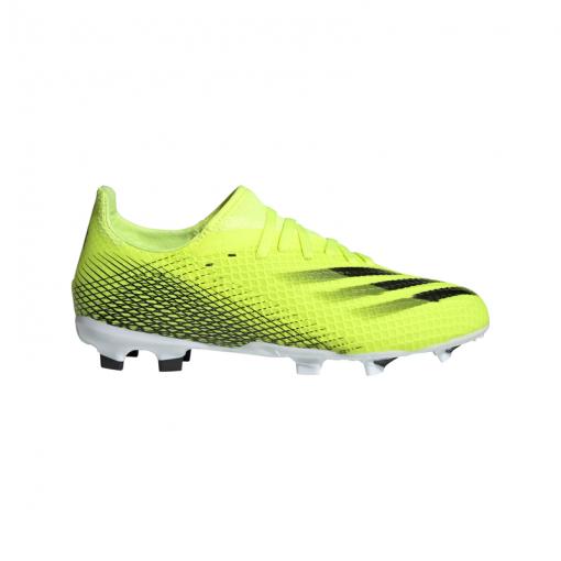 Adidas junior voetbalschoen X GHOSTED.3 FG J - SYELLO/CBLACK/ROY SYELLO/CBLAC