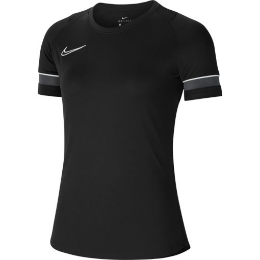 Nike dames t-shirt Dri-Fit Academy Womens Soccer - 014 BLACK/WHITE/ANTHRACITE/WHI