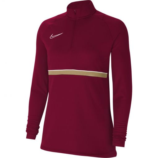 Nike dames shirt Dri-Fit Academy Womens Soccer - 677 TEAM RED/WHITE/JERSEY GOLD