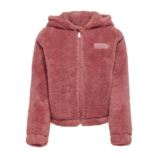 ONPJOMO FLUFFY LS SHORT HOOD SWT - - 208890 Withered Rose