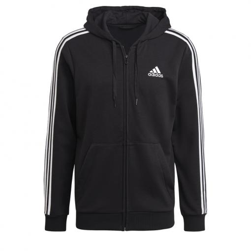 Adidas heren vest M 3S Ft Fullzip Hoodie - Zwart