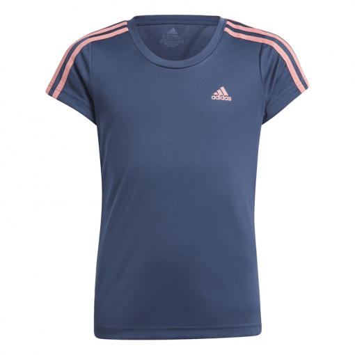 Adidas meisjes t-shirt G 3S Tee - Crenav/Hazros