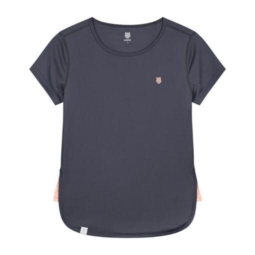 K-Swiss dames t-shirt Hypercourt Cap Sleeve - STD GRAYSTONE