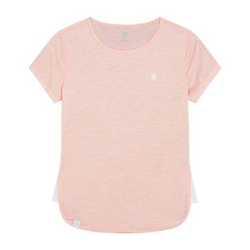K-Swiss dames t-shirt Hypercourt Cap Sleeve - STD PEACH-MELANGE--