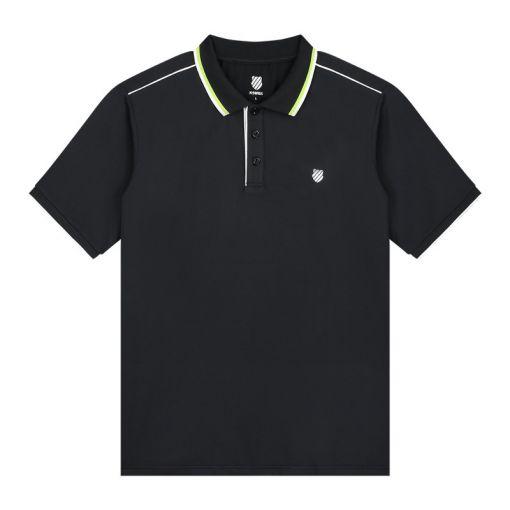 K-Swiss heren tennis polo Hypercourt 3 - Blue Graphite