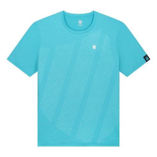 K-Swiss heren tennis t-shirt Hypercourt Shield - Scuba Blue