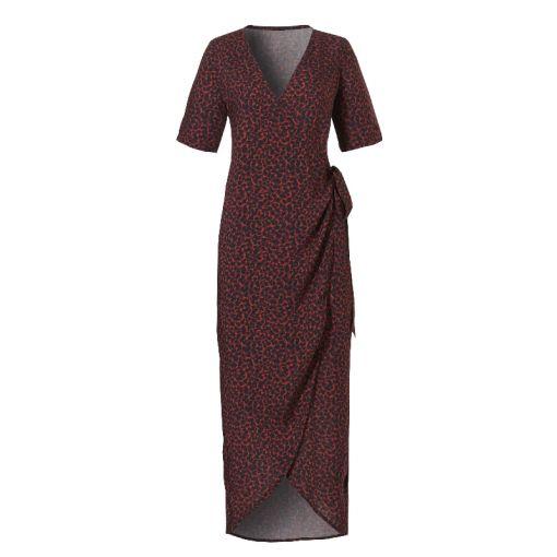 Wrap Dress - 2192 Leopard