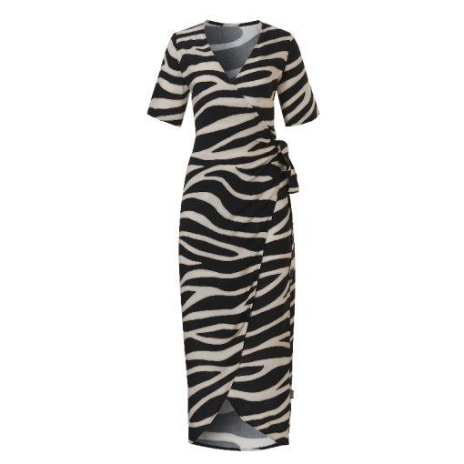 Wrap Dress - 2193 Zebra