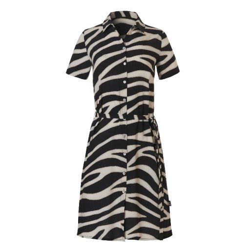 Shirt Dress - 2193 Zebra