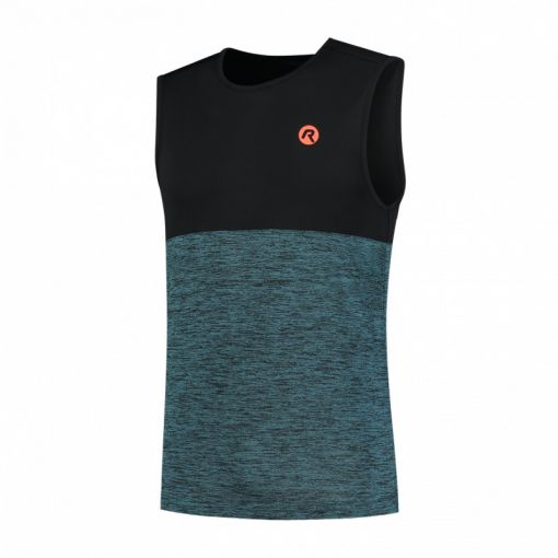 Runningsinglet Essence - Blauw/ Oranje
