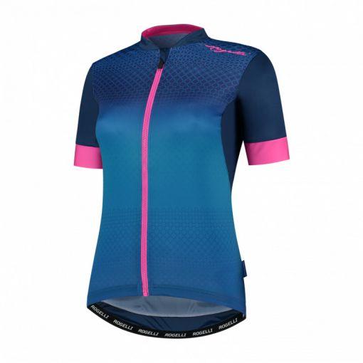 Ds Wielershirt KM Lux - Blauw/ Roze