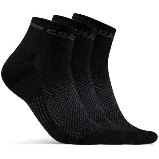 Core Dry Mid Sock 3-Pack - zwart