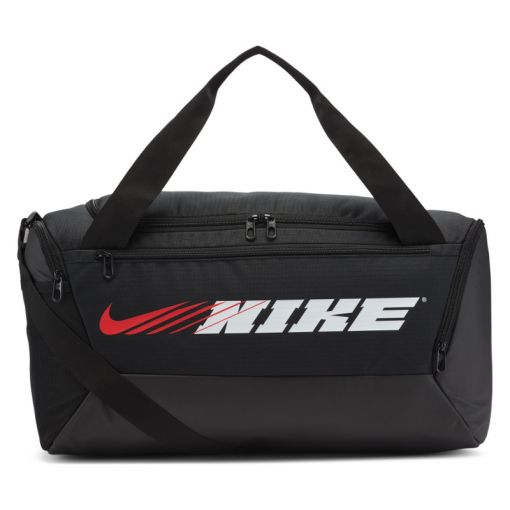 Nike sporttas Brasilia Graphic Training - 011 BLACK/BLACK/BRIGHT CITRON