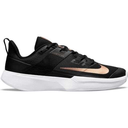 Nike dames tennis gravelschoen Vapor Lite Clay - 024 BLACK/MTLC RED BRONZE-WHIT