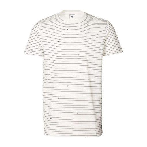 Tim-Stripe Men T-shirt - 1001 Snow