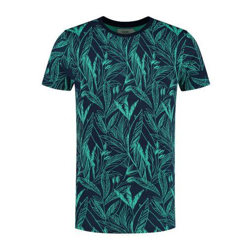 Shiwi heren t-shirt Scratched Leaves - Groen