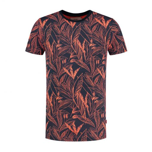 Shiwi heren t-shirt Scratched Leaves - Oranje