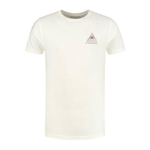 Shiwi heren t-shirt Sunshine Triangle - 014 White Antique