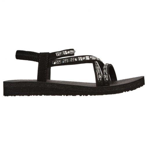 Skechers dames sandalen Meditation - Zwart