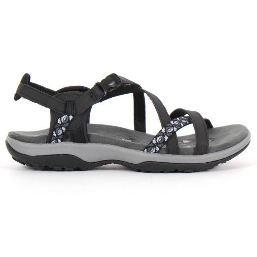 Skechers dames sandaal Reggae Slim - Zwart