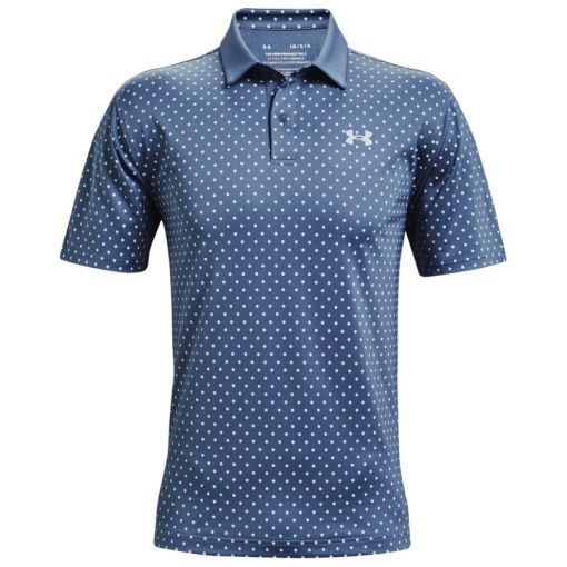 UA Performance Printed Polo - Mineral Blue