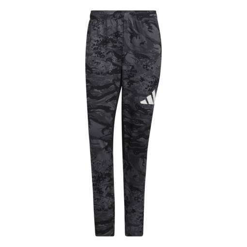 Adidas heren joggingbroek 3 Bar Camo Pant - Zwart