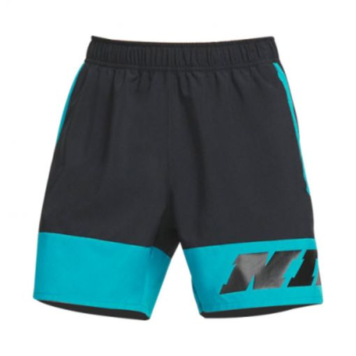 Nike heren short Training Shorts - 010 Black/ Green abyss