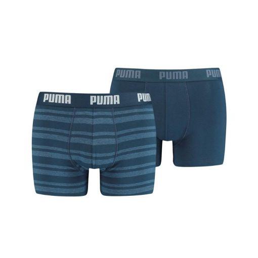 PUMA HERITAGE STRIPE BOXER 2P - Blauw