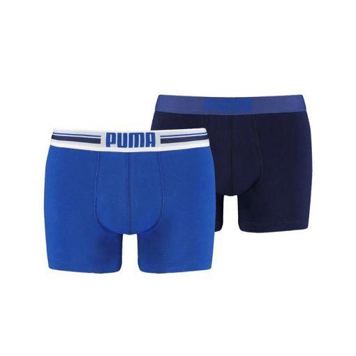PUMA PLACED LOGO BOXER 2P - Blauw