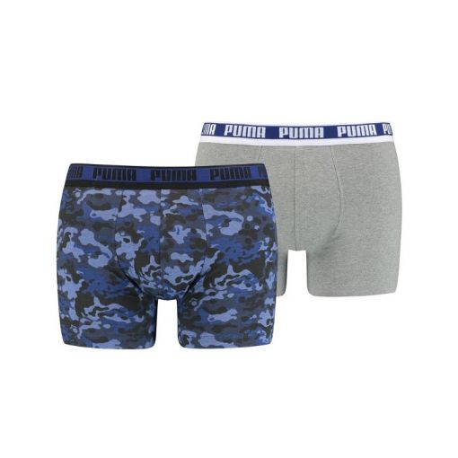 PUMA MEN CAMO BOXER 2P - 002 blue / grey melange