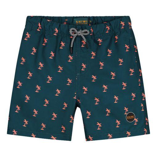 Boys Swimshort Shiwi Palm - Blauw