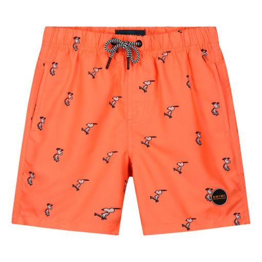 Boys Swimshort Snoopy Happy Skater - Oranje