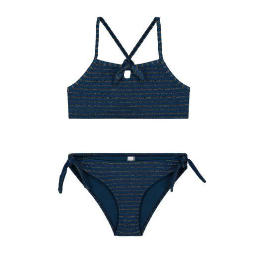 Girls Endless Summer Scoop Bikini - 693 Poseidon Blue