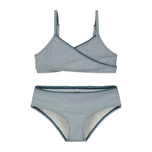 Girls Cote D zur Twisted Scoop Top Bikini - 696 Patagonia Blue