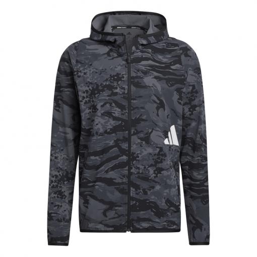 Adidas heren vest Fl 3 Bar Camo Fz - Zwart