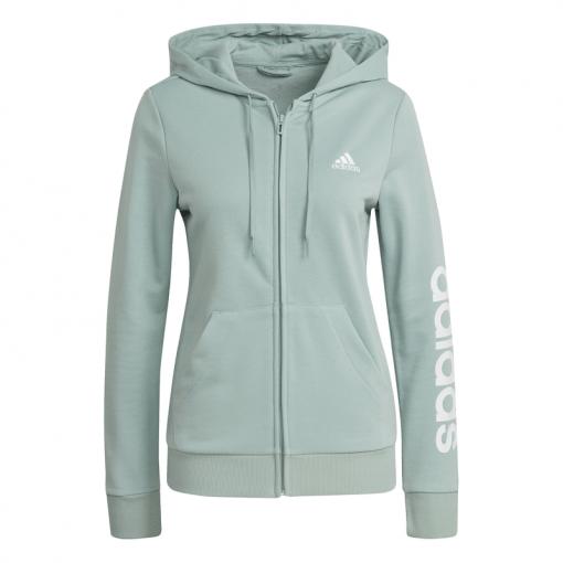 Adidas dames vest W Lin Ft Fz Hoodie - Hazgrn