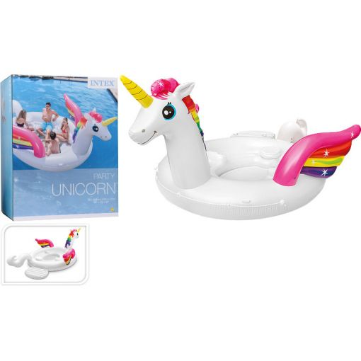 Intex opblaasbaar luchtbed Unicorn Mega XXL - Wit