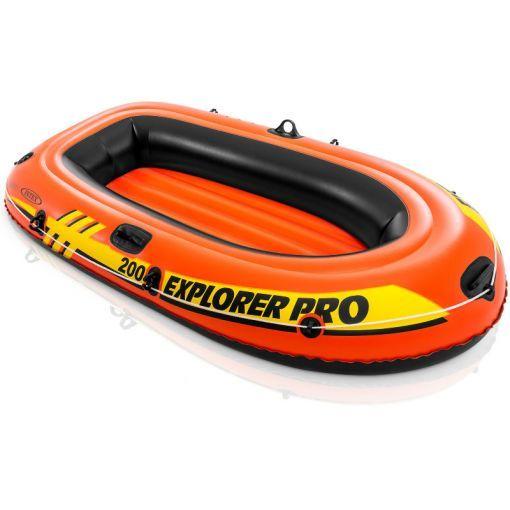 Intex opblaasbare boot voor 2 personen Max 120 kg - Oranje