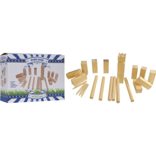 Kubb set Groot Hout - Hout