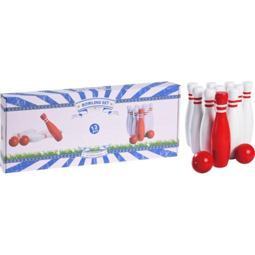 Bowling Spel Set 12 stuks Hout - Hout