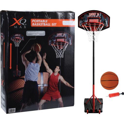 XQmax Basketbal stand verstelbaar - Zwart