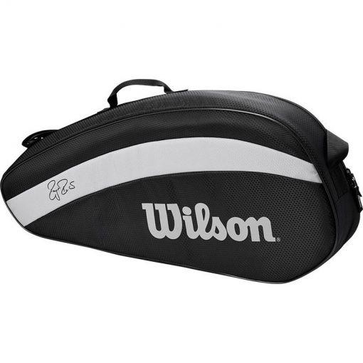 Wilson tennistas Rf Team 3 Pack - Zwart