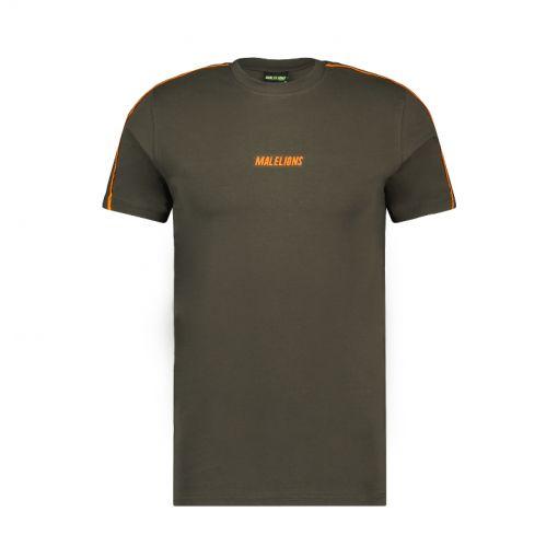 Malelions heren t-shirt Sport Coach T-Shirt - 415 Army/Orange