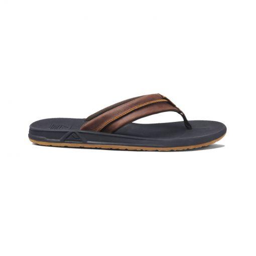 Reef heren slipper Leather Element Tqt - Zwart
