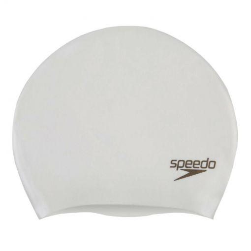 Speedo badmuts Long Hair Sil Cap White/Gold P12 - F939 WhiGol