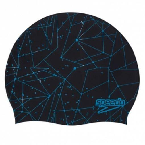 Speedo badmuts Slogan Print Cap Black/Blue P6 - 6869 BlaBlu
