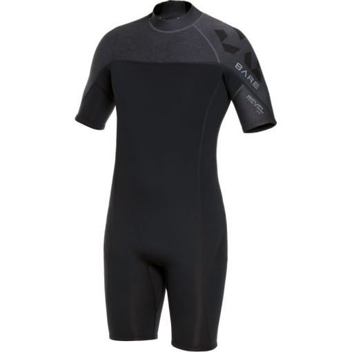 Bare heren wetsuit 2mm Revel Shorty Men - Grijs