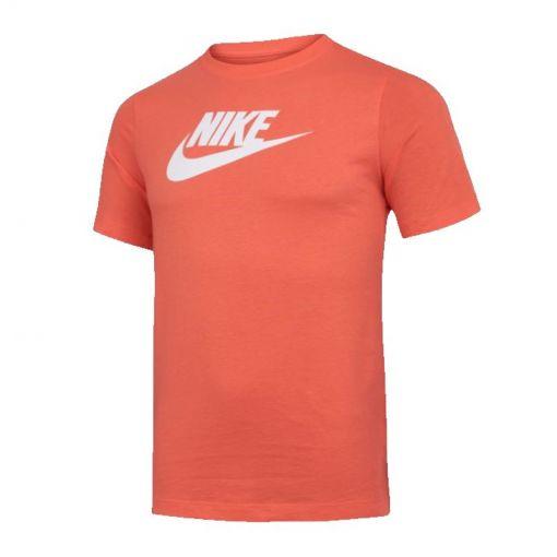 Nike junior t-shirt Sportswear Big Kids Cotton Tee - 842 Turf Orange
